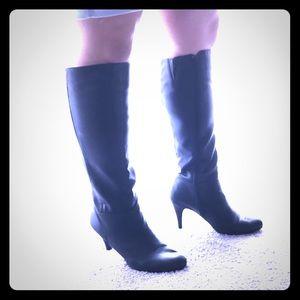 Express Black Zip Up Boots